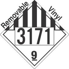 Miscellaneous Dangerous Goods Class 9 UN3171 Removable Vinyl DOT Placard