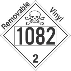 Toxic Gas Class 2.3 UN1082 Removable Vinyl DOT Placard
