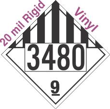 Miscellaneous Dangerous Goods Class 9 UN3480 20mil Rigid Vinyl DOT Placard