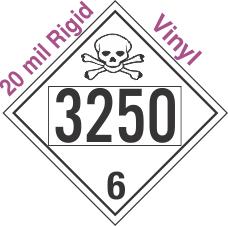 Poison Toxic Class 6.1 UN3250 20mil Rigid Vinyl DOT Placard