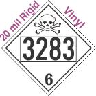 Poison Toxic Class 6.1 UN3283 20mil Rigid Vinyl DOT Placard