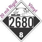 Corrosive Class 8 UN2680 20mil Rigid Vinyl DOT Placard