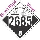 Corrosive Class 8 UN2685 20mil Rigid Vinyl DOT Placard
