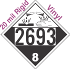 Corrosive Class 8 UN2693 20mil Rigid Vinyl DOT Placard