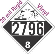 Corrosive Class 8 UN2796 20mil Rigid Vinyl DOT Placard
