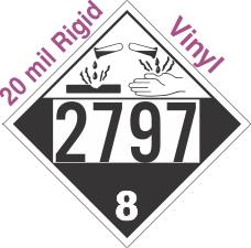 Corrosive Class 8 UN2797 20mil Rigid Vinyl DOT Placard