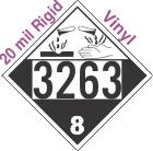 Corrosive Class 8 UN3263 20mil Rigid Vinyl DOT Placard