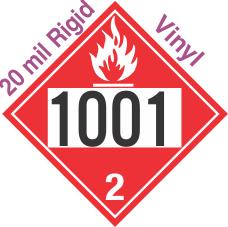 Flammable Gas Class 2.1 UN1001 20mil Rigid Vinyl DOT Placard