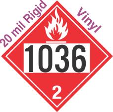 Flammable Gas Class 2.1 UN1036 20mil Rigid Vinyl DOT Placard