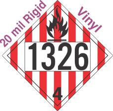 Flammable Solid Class 4.1 UN1326 20mil Rigid Vinyl DOT Placard