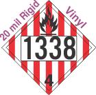 Flammable Solid Class 4.1 UN1338 20mil Rigid Vinyl DOT Placard