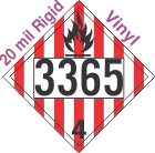 Flammable Solid Class 4.1 UN3365 20mil Rigid Vinyl DOT Placard