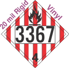 Flammable Solid Class 4.1 UN3367 20mil Rigid Vinyl DOT Placard