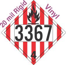 Flammable Solid Class 4.1 UN3367 20mil Rigid Vinyl DOT Placard