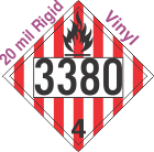 Flammable Solid Class 4.1 UN3380 20mil Rigid Vinyl DOT Placard