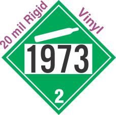 Non-Flammable Gas Class 2.2 UN1973 20mil Rigid Vinyl DOT Placard