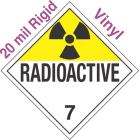 Radioactive Class 7 UN2911 20mil Rigid Vinyl DOT Placard