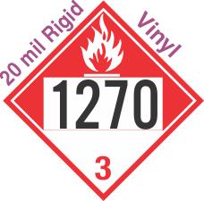 Combustible Class 3 UN1270 20mil Rigid Vinyl DOT Placard