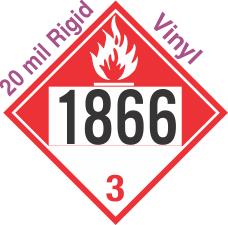 Combustible Class 3 UN1866 20mil Rigid Vinyl DOT Placard