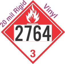 Combustible Class 3 UN2764 20mil Rigid Vinyl DOT Placard