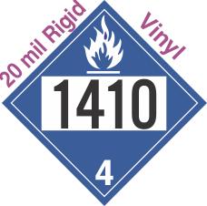 Dangerous When Wet Class 4.3 UN1410 20mil Rigid Vinyl DOT Placard