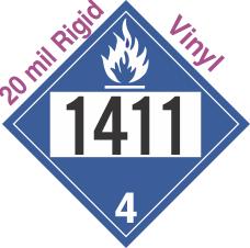 Dangerous When Wet Class 4.3 UN1411 20mil Rigid Vinyl DOT Placard