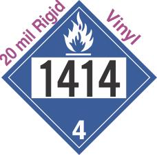 Dangerous When Wet Class 4.3 UN1414 20mil Rigid Vinyl DOT Placard