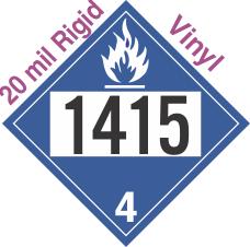 Dangerous When Wet Class 4.3 UN1415 20mil Rigid Vinyl DOT Placard
