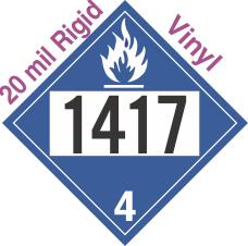 Dangerous When Wet Class 4.3 UN1417 20mil Rigid Vinyl DOT Placard