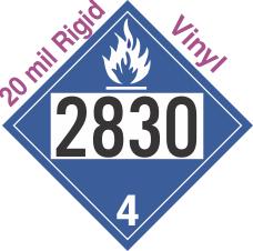 Dangerous When Wet Class 4.3 UN2830 20mil Rigid Vinyl DOT Placard