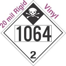 Inhalation Hazard Class 2.3 UN1064 20mil Rigid Vinyl DOT Placard