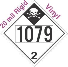 Inhalation Hazard Class 2.3 UN1079 20mil Rigid Vinyl DOT Placard
