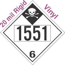 Inhalation Hazard Class 6.1 UN1551 20mil Rigid Vinyl DOT Placard
