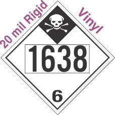 Inhalation Hazard Class 6.1 UN1638 20mil Rigid Vinyl DOT Placard