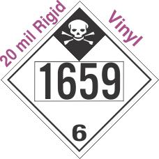Inhalation Hazard Class 6.1 UN1659 20mil Rigid Vinyl DOT Placard