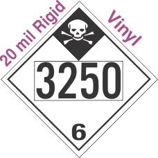 Inhalation Hazard Class 6.1 UN3250 20mil Rigid Vinyl DOT Placard