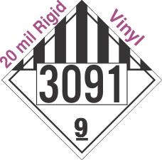 Miscellaneous Dangerous Goods Class 9 UN3091 20mil Rigid Vinyl DOT Placard