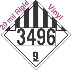 Miscellaneous Dangerous Goods Class 9 UN3496 20mil Rigid Vinyl DOT Placard
