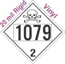 Toxic Gas Class 2.3 UN1079 20mil Rigid Vinyl DOT Placard