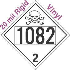 Toxic Gas Class 2.3 UN1082 20mil Rigid Vinyl DOT Placard