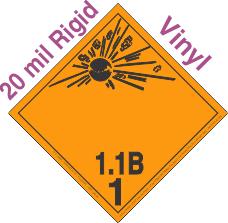 Explosive Class 1.1B Wordless 20mil Rigid Vinyl DOT Placard