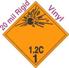 Explosive Class 1.2C Wordless 20mil Rigid Vinyl DOT Placard