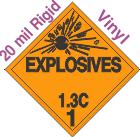 Explosive Class 1.3C 20mil Rigid Vinyl DOT Placard