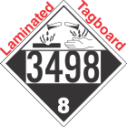 Corrosive Class 8 UN3498 Tagboard DOT Placard