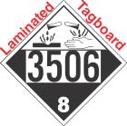 Corrosive Class 8 UN3506 Tagboard DOT Placard