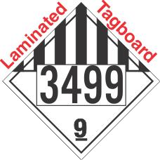 Miscellaneous Dangerous Goods Class 9 UN3499 Tagboard DOT Placard