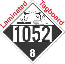 Corrosive Class 8 UN1052 Tagboard DOT Placard