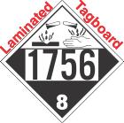 Corrosive Class 8 UN1756 Tagboard DOT Placard