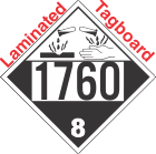 Corrosive Class 8 UN1760 Tagboard DOT Placard