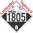 Corrosive Class 8 UN1805 Tagboard DOT Placard